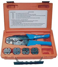S & G Tool Aid 18920 Ratcheting Terminal Crimping Kit- 5 Piece