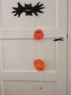 Vleermuis (pim), pompoenen (Max)  Halloween knutsel