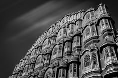 Hawa Mahal, Palace of Winds - Jaipur is the 3rd stop of my Nov 2015 India photo tour, everyone came here took the picture of palace of winds, I made it black and white fine art piece.  williamyuphotoworkshops.com
