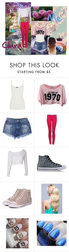 """My best friend and me in spring..."" by glee2shake ❤ liked on Polyvore featuring Ralph Lauren Blue Label, RED Valentino, Wildfox, Dr. Denim, Converse and Ash"