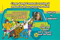 Scooby Doo Invitations   Get these invitations RIGHT NOW. Design yourself online, download and print IMMEDIATELY! Or choose my printing services.   No software download is required. Free to try!
