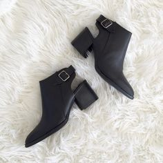Open Heel Black Booties New in Box Multiple sizes- please comment on size needed                                                       (Tagged Jeffrey Campbell for exposure!) current sizes available - 7 7.5 8 8.5 9 10 Jeffrey Campbell Shoes Ankle Boots & Booties