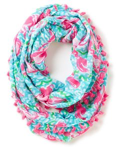LILLY PULITZER - RILEY INFINITY LOOP RAYON in Lobstah Roll