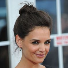 Watch Katie Holmes Show You How to Stop Stressing About Hair Falling Out of Your Bun/Top Knot