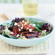 Great seafood from the grill   Grilled-Salmon Salad   Sunset.com