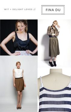 bottom left. and top left- high waist skirts just work.