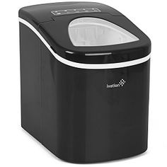 Ivation Portable Ice Maker with Easy Touch Buttons - This small table top ice maker will yield up to 26.5 lbs. of ice daily. Available in colors: Black, Red, Silver and White