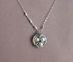 925 Sterling Silver Heart Leaf with Nest by tinycottagetreasures, $27.00
