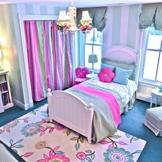 Girls Purple Bedroom Design Ideas, Pictures, Remodel, and Decor - page 14 Teen Girl Rooms, Little Girl Rooms, Kids Rooms, Tween Girls, Kids Girls, Dream Bedroom, Girls Bedroom, Teen Bedrooms, Bedroom Ideas
