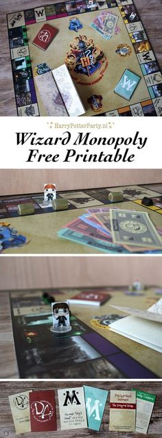 Free printable Harry Potter Monopoly