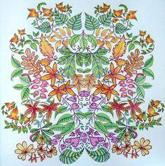 Secret Garden Gekleurd Door Marianne In Het Boek Mijn Geheime Tuin Spring GardenSecret GardensColoring BooksColouringPrismacolor CrayonsEnchantedLeaves