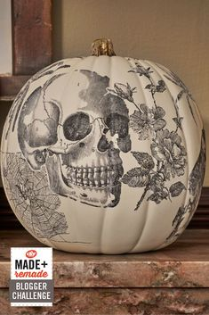 DIY Network Pumpkin Challenge: Spooky Skull Image Transfer Pumpkin >> http://www.diynetwork.com/made-and-remade/make-it/pumpkin-challenge-old-school-image-transfer-pumpkin?soc=pinterest @michaelsstores #MadeWithMichaels