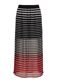 Striped chiffon maxi skirt (original price, $34) available at #Maurices