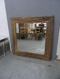 spiegel driftwood teak 100x100