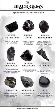 Crystal Guide, Crystal Magic, Crystals And Gemstones, Stones And Crystals, Gem Stones, Black Crystals, Crystals Minerals, Reiki, Black Gems