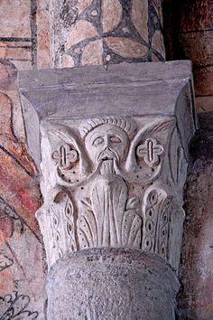 Abbatiale St-André de Valaudieu (Haute-Loire) - région Auvergne - chapiteau France, Chapelle, Rhone, Cycle, Roman, Oriental, Sculptures, Architecture, Alps