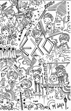 Wallpapers Exo Coloring Books Life Vintage Wall Papers Tapestries Pages Backdrops