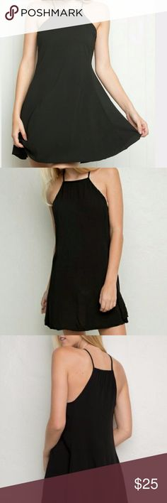 "Brandy Melville Abigail Dress Brandy Melville Abigail dress in black, Size"" one size""... I would say that this is a size xsmall / small but please refer to measurements for sizing  Measurements: pit to pit 16"", length 32"" Brandy Melville Dresses"