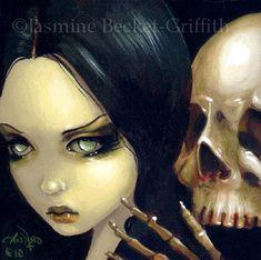 Faces of Faery 103 goth vampire skull big eye fairy by strangeling, $13.99