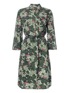 Designed with a pretty floral motif, this dress will bring a refined finish to your casual collection. Accented with a belted waist and roll tab sleeves, this piece will team well with knee high boots. Khaki floral dress Floral pattern Belted waist Button fastening Roll tab sleeves Model's height is 5'11 Wardrobe Ideas, Capsule Wardrobe, Floral Motif, High Boots, Baby Kids, High Neck Dress, Summer Dresses, Button, Pretty