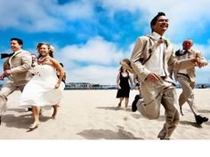 Bridal party on the beach! Epic Imagery, Southern California.