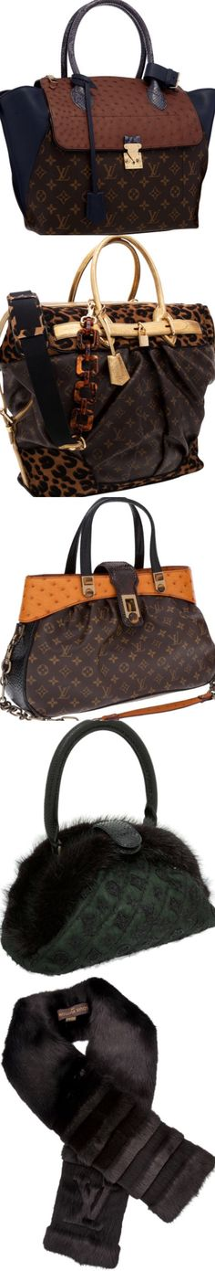 Louis Vuitton ~ Leather,  Suede,  Fur Casual Bags