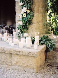 Hurricane candles and wedding decor: http://www.stylemepretty.com/collection/2133/ Photography: Ashley Kelemen - http://ashleykelemen.com/