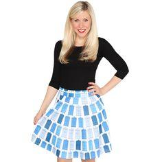 Doctor Who Blue Tardis Pattern Circle Skirt (Juniors XX-Large) Doctor Who Shop, Doctor Who Dress, Doctor Who Outfits, Doctor Who Shirts, Doctor Who Tardis, Tardis Dress, Tardis Blue, Long Skirts For Women, Geek Chic