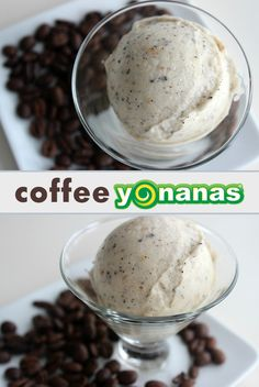 """Coffee Yonanas Didn't think it could get any better? Coffee & Ice-Cream…right? Transform Coffee & Bananas to create a healthy twist on Coffee """"ice-cream"""" with Yonanas & enjoy for breakfast! Frozen Desserts, Just Desserts, Frozen Treats, Yogurt Recipes, Snack Recipes, Easy Recipes, Dessert Bullet Recipes, Dessert Makers, Banana Nice Cream"""
