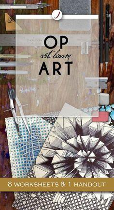 Art lesson for high school students. Art lesson for high school students. Op Art Lessons, Drawing Lessons, Drawing Art, Art Drawings, Middle School Art Projects, Art School, Secondary School Art, Programme D'art, Art Optical