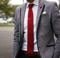 Use a red tie to stand out