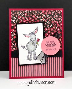 Karten Diy, Cards For Friends, Friend Cards, Stampin Up Catalog, Stamping Up Cards, Get Well Cards, Animal Cards, Creative Cards, Greeting Cards Handmade
