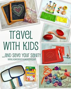 Home Sweet Homebodies: Travelling With Kids (And Saving Your Sanity)- More than 20 ideas of things to keep your kids busy and happy while you travel.