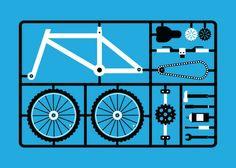 Bike parts as an airfix model