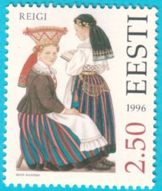 All* Estonian stamps: Hiiumaa folk costumes - Reigi