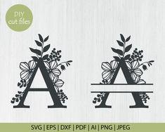 Cricut Monogram, Cricut Fonts, Monogram Decal, Monogram Design, Monogram Letters, Free Svg Files Monogram, Monogram Fonts, Cricut Explore Projects, Cricut Vinyl Projects