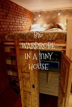 Big wardrobe in a tiny house