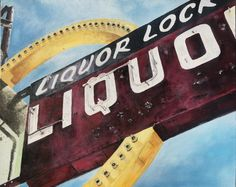 Liquor Locker : 16 x 20 Acrylic Painted by Shane O'Donnell O Donnell, Locker, Signage, Liquor, Paintings, Inspiration, Biblical Inspiration, Painting Art, Painting