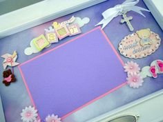 SWEET DREAMS Baby Girl Keepsake Box with Engraved Name Plate by theshadowbox on Etsy