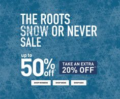 Roots Canada Winter Sale: Save Up to 50% Off  Extra 20% Off! http://www.lavahotdeals.com/ca/cheap/roots-canada-winter-sale-save-50-extra-20/160691?utm_source=pinterest&utm_medium=rss&utm_campaign=at_lavahotdeals