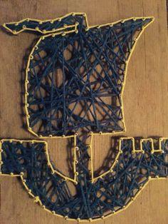 Schip zonder roer, IJlst, string-art