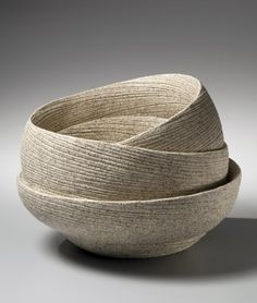 Sakiyama Takayuki, Round banded double-walled vessel with incised linear design…