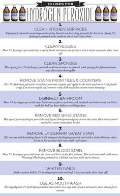 10 Uses for Hydrogen Peroxide