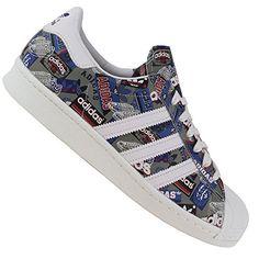 Adidas Superstar 80s Pioneers Nigo Sneaker B35768 White/Cream White Gr. 45 1/3 (10,5) - http://on-line-kaufen.de/adidas/45-1-3-adidas-superstar-foundation-herren