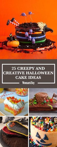 Get creative with these fun and easy Halloween cake ideas. Here you'll find simple recipes for your Halloween parties like No-Bake Peanut Butter Cheesecake, Candy Corn Poke Cake, and more.