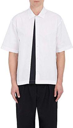 Marni Men's Colorblocked-Panel Cotton Poplin Shirt