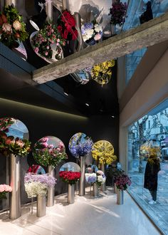 Shanghai, China, July's Flower is showing that a florist's shop does not need to be little, quaint or cute. Designed and branded by Alberto Caiola