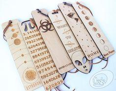 Segnalibro simbolo di Pi segnalibro in legno segnalibri