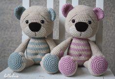 PATTERN  Tummy Teddy crochet amigurumi by lilleliis on Etsy, $6.50
