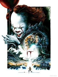 IT movie poster from the midnight premier of Stephen King's best selling horror novel adaptation. Mailed inside a poster tube. Horror Movie Posters, Horror Movies, Poster It, Movie Poster Art, Canvas Poster, Pennywise The Dancing Clown, Fanart, Kunst Poster, Creepy Clown